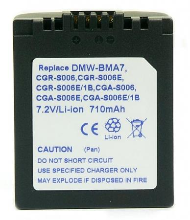 Power3000 PL78U.174 - acumulator tip CGA-S006, CGA-S006E, CGA-S006E/1B, CGR-S006, CGR-S006E, CGR-S006E/1B, DMW-BMA7, 710mAh
