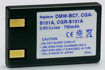 Power3000 PL7D.534 - acumulator tip CGA-S101A/CGR-S101A/DMW-BC7  pentru Panasonic, 750mAh
