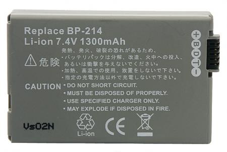 Power3000 PL852G.649 - acumulator tip BP-214 pentru Canon, 1300mAh