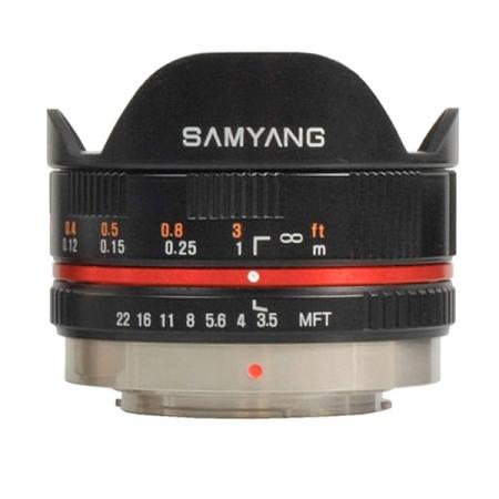 Samyang 7.5mm 1:3.5 UMC Fisheye MFT  negru - obiectiv fisheye, montura Micro FourThirds