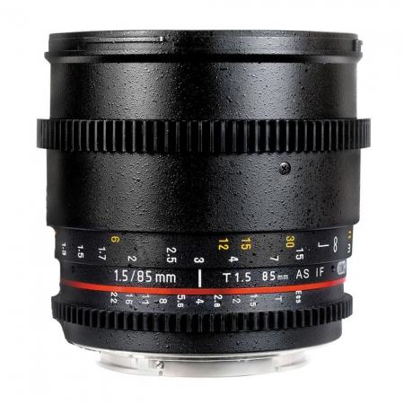 Samyang 85mm T1.5 Sony VDSLR - Cine Lens