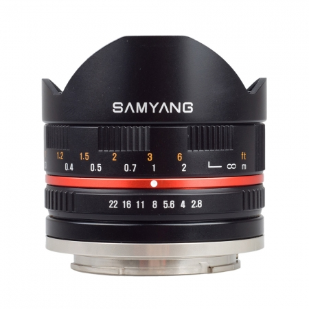 Samyang 8mm Fisheye F2.8 Fuji X black