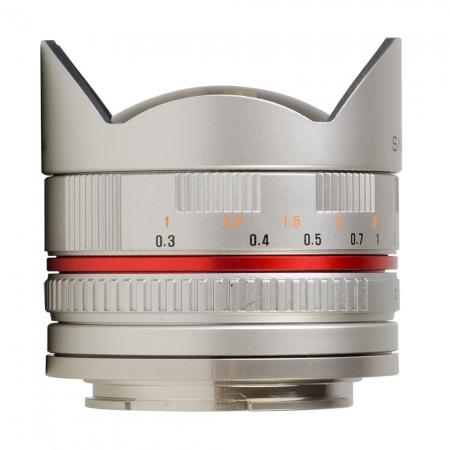 Samyang 8mm Fisheye F2.8 Sony E-system silver