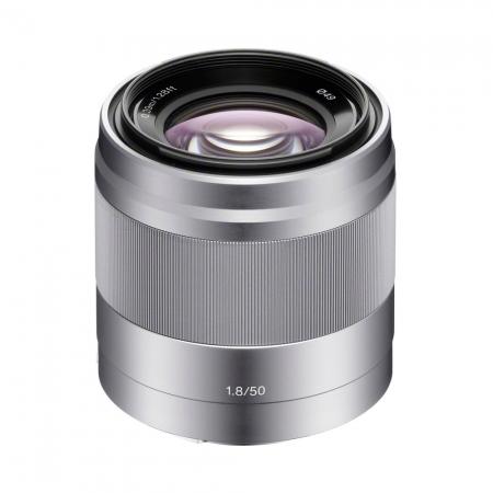 Sony E 50mm f/1.8 OSS argintiu