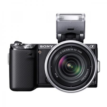 Sony NEX-5N kit negru + obiectiv 18-55mm OSS