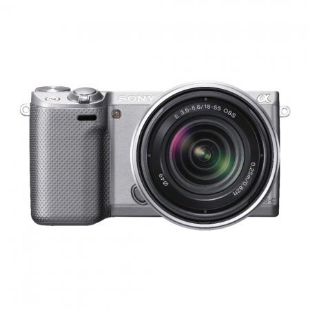 Sony NEX-5RS argintiu + SEL18-55