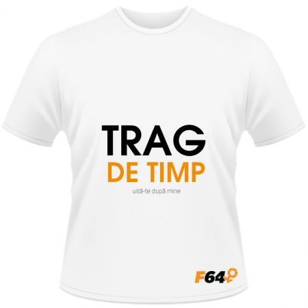 Tricou alb - Trag de Timp - S