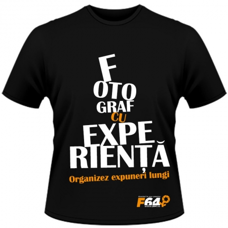 Tricou negru - Fotograf Cu Experienta - M