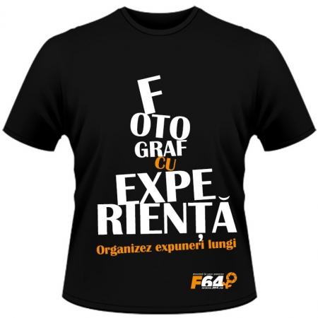 Tricou negru - Fotograf Cu Experinta - XXL