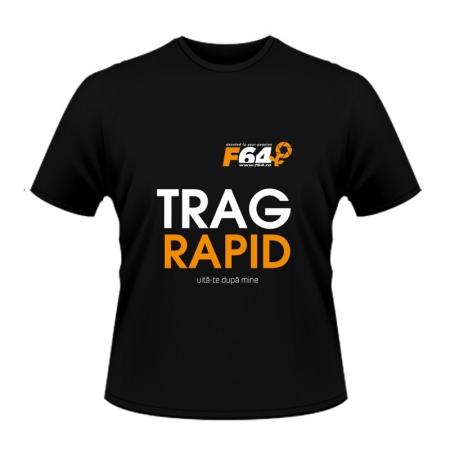 Tricou negru -Trag Rapid - S