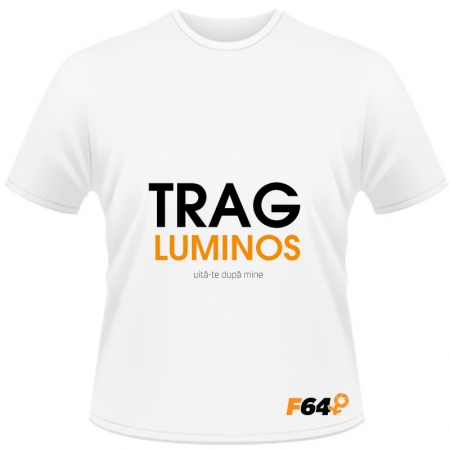 Tricou Trag Luminos Alb - S