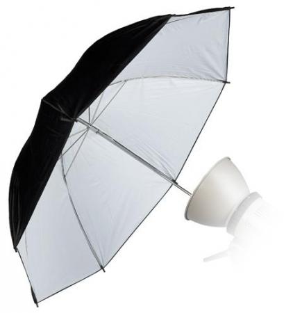 Umbrela Reflexie Alb MAT/Black 80cm (WOS3004 /33)