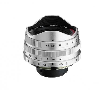 Voigtlander Super Wide Heliar 15mm f/4.5 (filet M39, argintiu) + vizor suplimentar