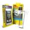 Hoda - Bumper metalic argintiu + folie sticla fata + folie spate iPhone 6 Plus