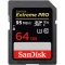 SanDisk Extreme Pro SDXC 64GB, UHS-I, V30, U3,  citire 95MB/s, scriere 90MB/s