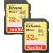 SanDisk Extreme SDHC 32GB 90MB/s. UHS 3 set 2 carduri