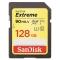 SanDisk Extreme SDXC 128GB, UHS-I, V30, U3, viteza transfer 90MB/s