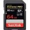 Sandisk SDXC 64GB  Extreme Pro UHS-I 95MB/s SDSDXPA-064G-X46
