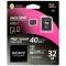 Sony microSDHC 32GB UHS-I cu adaptor SD - card memorie clasa 10, 40MB/s