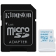 Kingston 64GB microSDXC UHS-I U3 Action Card, 90R/45W + SD Adapter
