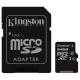 Kingston 64GB microSDXC - Clasa 10, UHS-I, 45MB/s Citire, Card + Adaptor SD