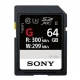 Sony SF-G SDXC 64GB, PROFESSIONAL, CL10 UHS-II R300 W299