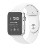 Apple Watch Sport 42mm - carcasa aluminiu argintie, curea sport alba
