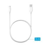 ANKER - Cablu PowerLine micro USB 3 metri alb