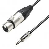 Adam Hall - cablu microfon XLR (m) - Jack 3.5mm(t) - 3m