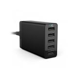 Anker - Incarcator de retea, 40W, 5 porturi USB, PowerIQ, Negru