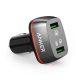 Anker PowerDrive+ 2 - Incarcator auto, 42W, Qualcomm Quick Charge 3.0, Negru