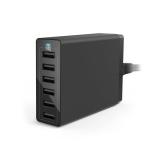 Anker PowerPort - Incarcator retea, 60W, 6 porturi USB, Negru