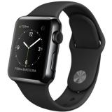 Apple Watch 1 cu carcasa din otel inoxidabil, 38mm, Negru