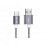 Benks Nylon - Cablu Premium USB-C USB, 1m - gri