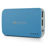 CANYON CNE-CPB78BL Blue color portable battery charger 4400mAh micro USB input 5V/1A and USB output 5V/1A(max) - RS125023802