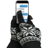 Celly - Manusi Touchscreen, M/L, Negru