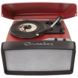 Crosley Collegiate CR6010A - Pick-up portabil, Rosu