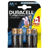 Duracell Baterie Turbo Max AA LR06 3+1 gratis
