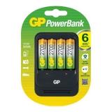 GP PB570 Incarcator AA/AAA NIMH R3/R6 + 4 acumulatori R6 2700mAh