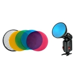 Godox AD-S11/S12 Flash Color Gel Pack & Reflector Grid
