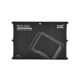 JJC - Cutie pentru carduri de memorie SD, 4 compartimente, gri