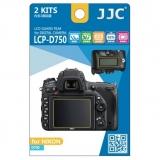 JJC - Folie protectie LCD pentru Nikon D750, 2 buc.