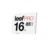 Leef PRO SDHC - Card memorie 16 GB, Clasa UHS-1, Alb