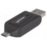 Manhattan imPORT Reader - Adaptor OTG, 1-Port USB 2.0 - Micro USB, 24-in-1 Card Reader/Writer