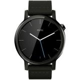 Motorola Moto 360 - Smartwatch 42mm, 2nd Gen, Otel Inoxidabil Negru Si Curea Piele Neagra