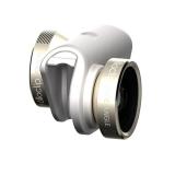 OLLOCLIP 4-in-1 Lens - kit lentile iPhone 6 & 6 Plus, auriu cu alb