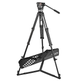 Sachtler System Ace M GS - Trepied Ace 75/2 D + spreader podea + cap fluid Ace M