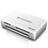 Transcend - Cititor carduri, USB 3.0, Alb