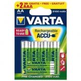 Varta - Acumulatori reincarcabili AA R6 2100 mAh, blister 4 + 2xAAA R3