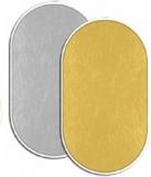 Fancier blenda 2in1, Gold/Silver, 102x153cm